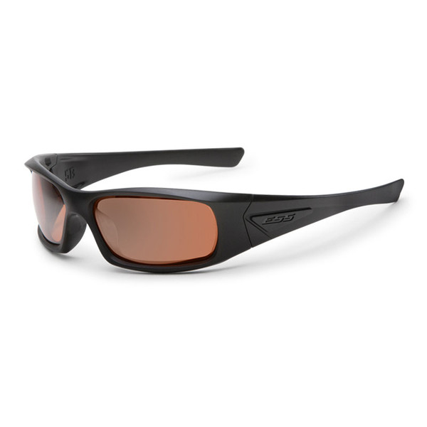 e2c1a3661d ESS 5B Sunglasses - Black Frame Mirrored Copper Lenses